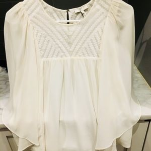 Anthropologie Joie White Boho Blouse, s